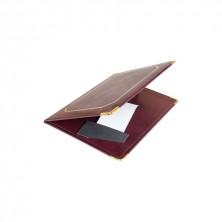 Presentación Cuentas Piel Burdeos 16,5 x 22,5 cm