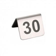 Caballetes Números Sobremesa Acero Inoxidable Del 26 al 50 5,2 x 4,2 cm