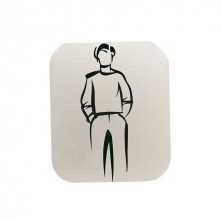 "Placas Autoadhesivas Aluminio ""HOMBRE"" 12,2 x 14 cm"