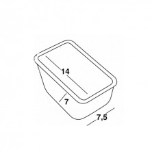 Compartimentos Plástico 14 x 7,4 x 7,3 cm