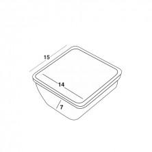 Compartimentos Plástico 14 x 14,5 x 7,3 cm
