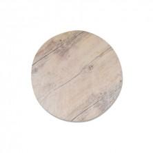 Placa de Melamina Redonda Imitación Madera 43 cm diámetro