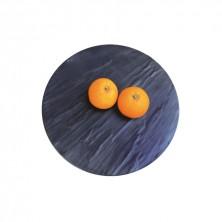 Placa de Melamina Redonda Imitación Pizarra Negra 43 cm diámetro