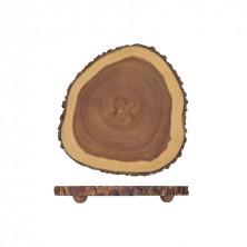 Madera De Acacia Con Borde Natural 30,5 x 3,5 cm