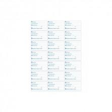 Etiquetas Blancas 6,8 x 3,8 cm Para Barquitas, Asegurando Trazabilidad Y Anotando Informaciones Necesarias (Pack 2.100 Uds)