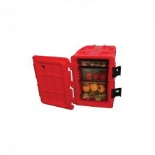Contenedor Isotérmico 6 Larguero Rojo 90 L- 62 x 43 x 64 cm Exterior - 54 x 33 x 51 cm Interior