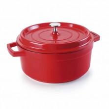 Cacerola Con Tapa Roja Fundición: Cocotes 20 cm