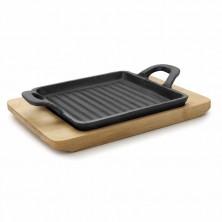 Mini Plancha Grill Cuadrada Magma 14 x 14 x 1,7 cm