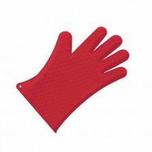 Guante De Silicona Con 5 Dedos Rojo 27 cm