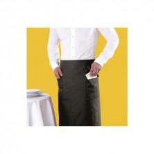 Mandil Francés Negro Con 2 Bolsillos 95 x 105 cm