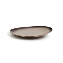 Plato Ala Alta Splash Beige 21 cm (Caja 12 Uds)