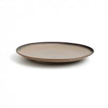 Plato Redondo Splash Beige 27 cm (Caja 6 Uds)