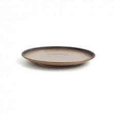 Plato Redondo Splash Beige 21 cm (Caja 12 Uds)
