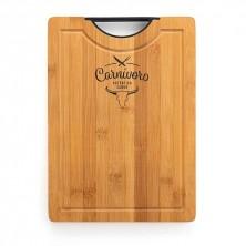 Tabla bambú corte y presentaciónCarnívoro 35x25x2 cm