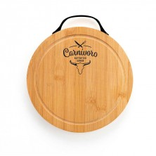 Tabla bambú corte y presentación Carnívoro 22x2cm