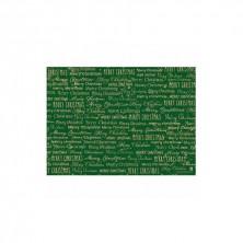 Mantelines Kraft Merry Christmas Verde 31 x 43 cm (pack 500 Uds)