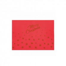 Mantelín Merry Christmas 30 x 40 cm (pack 200 Uds)