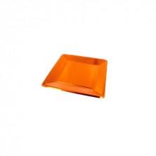 Plato Cuadrado Cobre 25 x 25 cm (Pack 8 Uds)