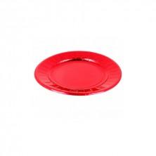 Plato Redondo Rojo 23 cm (Pack 10 Uds)
