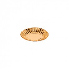 Plato Redondo Oro 17 cm (Pack 25 Uds)