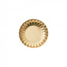 Plato Redondo Oro 25 cm (Pack 25 Uds)