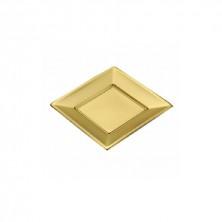 Plato llano Oro 23 cm (Pack 8 Uds)