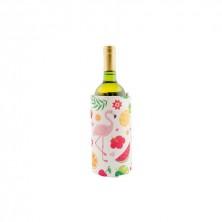 Enfría Botellas de Gel Flamencos 40x18 cm