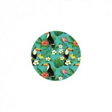 Set 4 Láminas Antigoteo Tucanes 7,5 cm