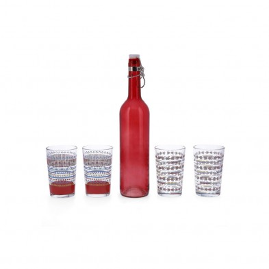 Set 4 vasos + Botella Arizona
