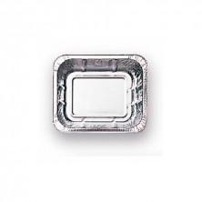 Envase Rectangular Aluminio 500 ml - 15 x 12,5 cm, 4,3 cm de alto. (Caja 100 Uds)