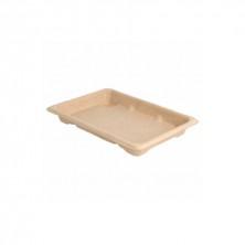 Shushi Box Bionic Caña De Azúcar Natural 16,5 x 11,5 x 1,5 cm (Pack 50 Uds)
