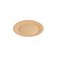 Platos Cartón Bio - Lacados Natural Relieve 18 cm (Pack 20 Uds)