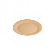 Platos Cartón Bio - Lacados Natural Relieve 23 cm (Pack 20 Uds)