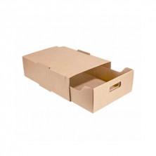 Bandeja de Transporte Apilables Kraft Tipo Fichero 34 x 26,5 x 11,5 cm (Pack 25 Uds)
