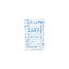 Bolsas Papel Azul 12 + 7 x 18 cm (Pack 500 Uds)