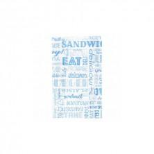 Bolsas Papel Azul 14 + 7 x 22 cm (Pack 500 Uds)
