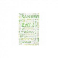 Bolsas Papel Verde 14 + 7 x 22 cm (Pack 500 Uds)
