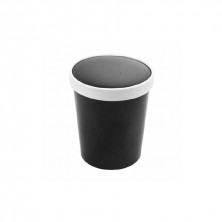 Tarrinas Negra Para Sopa Con Tapa 960 ml (Pack 25 Uds)