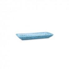 Fuente Rectangular Oxide Azul 28 x 14 cm