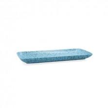Fuente Rectangular Oxide Azul 36 x 16,5 cm
