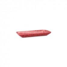 Fuente Rectangular Oxide Rojo 28 x 14 cm