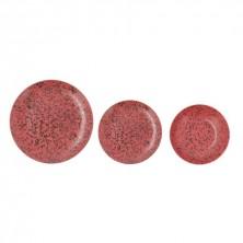 Vajilla Oxide Rojo 18 piezas