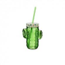 Jarra Cactus Verde Con Pajita Cool 40 cl