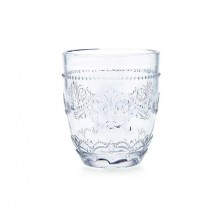 Vasos Flor Transparente 30 cl (Caja 6 Uds.)