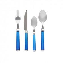 Set Cubiertos Stylo Azul 24 Piezas