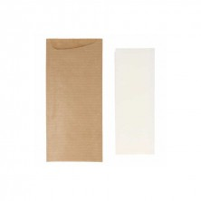 Bolsa Para Cubiertos + Servilleta 8,5 x 19,5 cm (Pack 250 Uds)