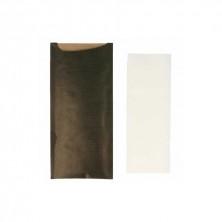 Bolsa Para Cubiertos Negro + Servilleta 8,5 x 19,5 cm (Pack 250 Uds)
