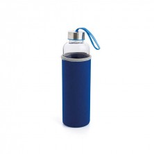 Botella Con Funda Azul Quidate 0,60