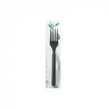 Tenedor PLAEco Negro 18 cm (Pack 100 Uds)