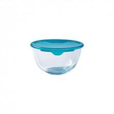 Bol Mezclas Con Tapa Azul Cook&Store 22 x 22 x 11,5 cm.